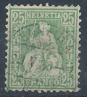 Sitzende Helvetia 40, 25 Rp.grün  ENNENDA       1880 - Unclassified