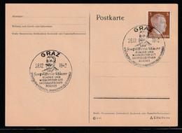 """Deutsches Reich / 1942 / Sonderstempel """"GRAZ-Ritter Von Schoenerer"""" Auf Postkarte (C298) - Stamped Stationery"""