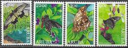 ARUBA, 2020, MNH, INSECTS, BUTTERFLIES, 4v - Butterflies