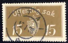 Norge - Norway - Noorwegen - P4/4 - (°)used -1933 - Michel 13 - Offentlig Sak - Service