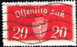 Norge - Norway - Noorwegen - P4/4 - (°)used -1934 - Michel D 14 II - Offentlig Sak - Service