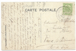 SH 0686. N° 83 Càd Bil. CHARLEROY-GERAARDSBERGEN(GRAMMONT) 11.VIII.1911 S/CP V. Vaux-sous-Chèvrement. TB Et R. - Ambulantes