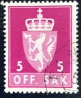 Norge - Norway - Noorwegen - P4/4 - (°)used -1955 - Michel 68x - Off. Sak - Staatswapen. - Service