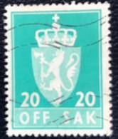 Norge - Norway - Noorwegen - P4/4 - (°)used -1955 - Michel 71 - Off. Sak - Staatswapen. - Service
