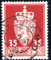 Norge - Norway - Noorwegen - P4/4 - (°)used -1955 - Michel 74x - Off. Sak - Staatswapen. - Service