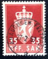 Norge - Norway - Noorwegen - P4/4 - (°)used -1955 - Michel 74x - Off. Sak - Staatswapen - Lahaugmoen Feltpost - Service