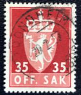 Norge - Norway - Noorwegen - P4/4 - (°)used -1955 - Michel 74x - Off. Sak - Staatswapen - Service