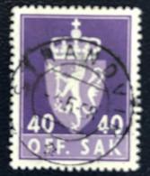 Norge - Norway - Noorwegen - P4/4 - (°)used -1955 - Michel 75 - Off. Sak - Staatswapen - Service