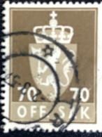 Norge - Norway - Noorwegen - P4/4 - (°)used -1955 - Michel 79 - Off. Sak - Staatswapen - Service