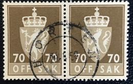 Norge - Norway - Noorwegen - P4/4 - (°)used -1955 - Michel 79 - Off. Sak - Staatswapen - Horten - Service