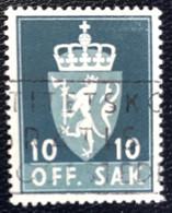 Norge - Norway - Noorwegen - P4/4 - (°)used -1955 - Michel 69 - Off. Sak - Staatswapen - Service
