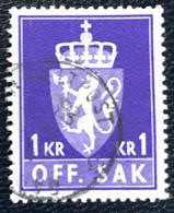 Norge - Norway - Noorwegen - P4/4 - (°)used -1957 - Michel 83x - Off. Sak - Staatswapen - Service