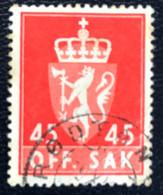 Norge - Norway - Noorwegen - P4/4 - (°)used -1958 - Michel 76x - Off. Sak - Staatswapen - Service