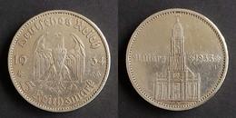 Duitsland - 3de Rijk 5 Reichsmark, 1934 A KM82 1st Anniversary - Nazi Rule, Potsdam Garrison Church (21 März 1933) - 5 Reichsmark