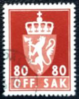 Norge - Norway - Noorwegen - P4/4 - (°)used -1958 - Michel 81x - Off. Sak - Staatswapen - Service