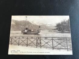 120 - ANNECY Le Lac Et La Tournette, Vus De La Promenade Du Jardin - 1924 Timbrée - Annecy