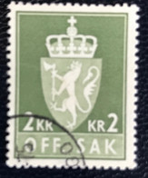 Norge - Norway - Noorwegen - P4/4 - (°)used -1960 - Michel 84x - Off. Sak - Staatswapen - Service