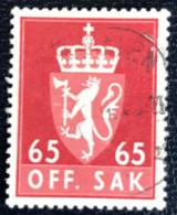 Norge - Norway - Noorwegen - P4/4 - (°)used -1968 - Michel 90x - Off. Sak - Staatswapen - Service