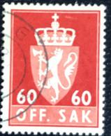 Norge - Norway - Noorwegen - P4/4 - (°)used -1964 - Michel 89x - Off. Sak - Staatswapen - Service