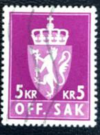 Norge - Norway - Noorwegen - P4/4 - (°)used -1960 - Off. Sak - Staatswapen - Service