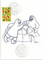 Cachet Illustré - 50 Ans Des Expéditions Polaires Françaises - YT 3046 Joyeux Anniversaire - Matasellos Conmemorativos
