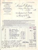 18 - CHER - FACTURE Ou LETTRE - NEUVY / GRAINS FOURRAGES LOUIS CHOPIN / 1929 - 1900 – 1949