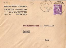 60 . OISE . NOYON . DAGUIN JUMELE . 1948   NON REPERTORIE //// RARE - Mechanical Postmarks (Other)