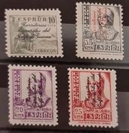 Guinea N 256/259. Sin Charnela. - Guinea Española