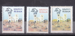 Stamps SUDAN 2000 SC 519 A B C UPU 125TH ANNIVERSARY MNH SET CV$21 # 57 - Sudan (1954-...)