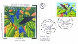 Enveloppe 1er Jour Colibri à Tête Bleue, Oiseaux D'outre-mer 2003 (YT 3548) - 2000-2009