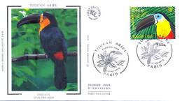 Enveloppe 1er Jour Toucan Ariel, Oiseaux D'outre-mer 2003 (YT 3549) - 2000-2009