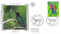 Enveloppe 1er Jour Colibri Grenat, Oiseaux D'outre-mer 2003 (YT 3550) - 2000-2009