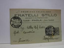 PAOLA -- COSENZA  --   FRATELLI STILLO  -- PREMIATA CALZOLERIA - Cosenza