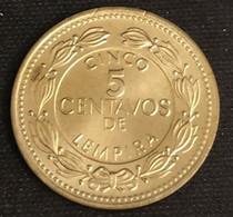 HONDURAS - 5 CENTAVOS 1999 - KM 72.4 - Neuve - UNC - Honduras