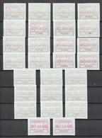 Luxemburg Kleine Verzameling Vignetten Volledige Reeksen Zie Ook Nummering **, Zeer Mooi Lot 4271 - Postage Labels