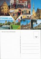 Hameln Rattenfängerhaus, Hochzeitshaus, Weserwehr Mit Dampfer 1990 - Hameln (Pyrmont)