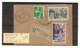 Surcharge E A   Sur FragmentALGER CASTIGLIONE 1 101 G 1 255  1T 3 - Algerien (1962-...)