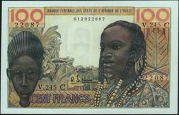 ♛ WEST AFRICAN STATES - 100 Francs Nd.(1961-1965) {Burkina Faso C} AU-UNC P.301 Cf - Burkina Faso