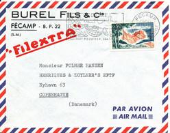 France Air Mail Cover Sent To Denmark Fecamp 11-2-1966 ??? Single Franked - Brieven En Documenten