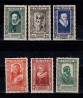 YV 587 à 592 N** Celebrites 1943 Cote 14 Euros - Unused Stamps