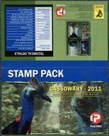 Papua New Guinea 2011. Birds - Cassowaires (MNH OG. StampPack) Set Of 4 Stamps - Papúa Nueva Guinea