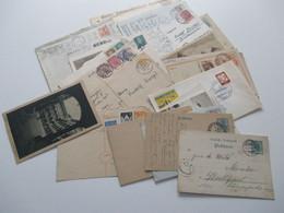 1902 - 1962 Belege / AK / GA Kleiner Heimat Posten Stuttgart Mit Vielen Verschiedenen Stücken / Stempeln Ab Ca. - Collections (without Album)