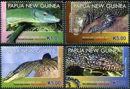 Papua New Guinea 2011. Monitor Lizards (MNH OG) Set Of 4 Stamps - Papua-Neuguinea