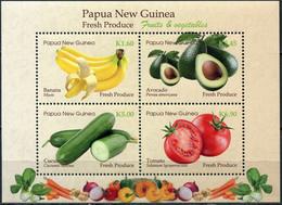 Papua New Guinea 2019. Fresh Produce (II) (MNH OG) Souvenir Sheet - Papúa Nueva Guinea