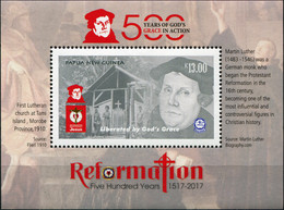 Papua New Guinea 2017. 500th Anniversary Of The Reformation (MNH OG) S/S - Papua New Guinea