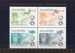 Papua New Guinea 2016. Commemorative Coins And Notes PNG (MNH OG) M/S - Papua New Guinea