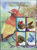 Papua New Guinea 2010. Bowerbirds (MNH OG) Miniature Sheet - Papua-Neuguinea