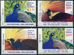 Papua New Guinea 2017. National Birds Of P. N. Guinea And India (MNH OG) Set - Papua New Guinea