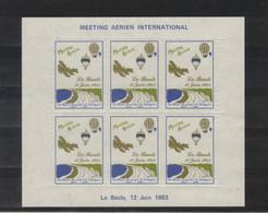 FR Bloc Feuillet Neuf Sans Gomme MEETING AERIEN INTERNATIONAL LA BAULE 1983 - Aviation