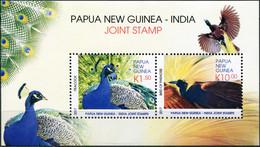 Papua New Guinea 2017. National Birds Of P. N. Guinea And India (MNH OG) S/S - Papua New Guinea